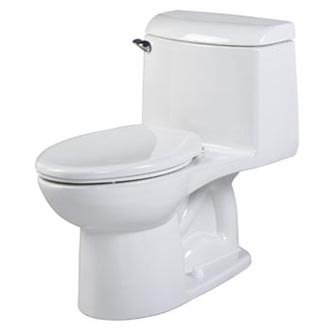 Champion 4 Right Height Elongated 1-Piece Toilet shown in White (020)